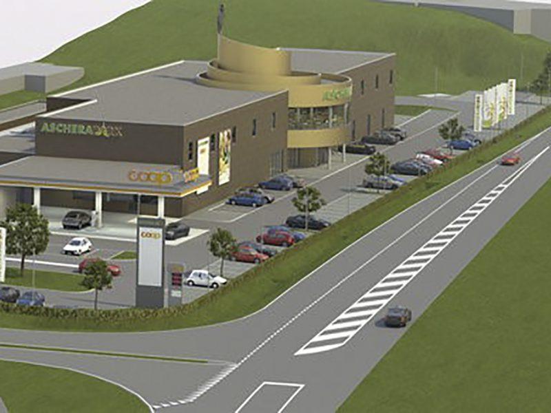 Das Prättigauer Einkaufszentrum Ascherapark in Schiers
