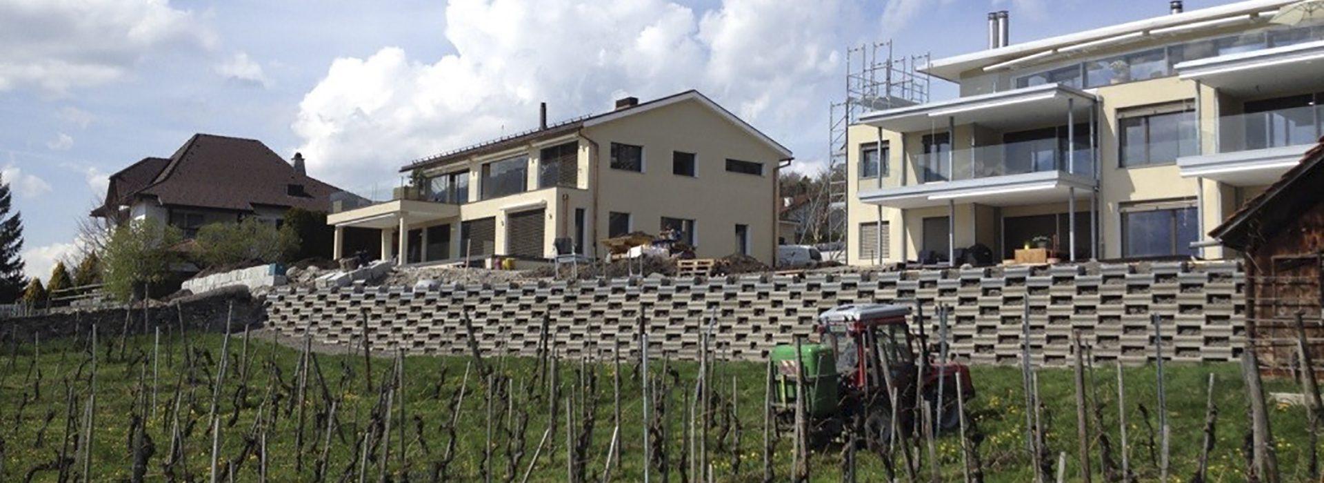 Überbauung in Malans Küragässli, Haus A und B
